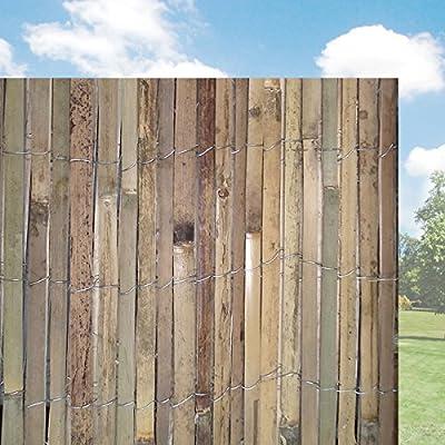 Bamboo Slat Garden Divider Screening - 4M Wide Panels - 100cm/150cm/200cm Height