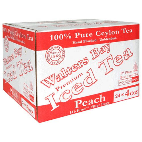 Buy Walters Bay & Company, Pure Ceylon Premium Iced Tea, Peach Flavored, 24-Count, 4-Ounce Pouches (Walter's Bay, Health & Personal Care, Products, Food & Snacks, Beverages, Tea, Black Teas)