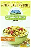 Cascadian Farm Organic Granola Whole Grain Oats, Maple Brown Sugar, 15.0 Ounce (Pack of 6)