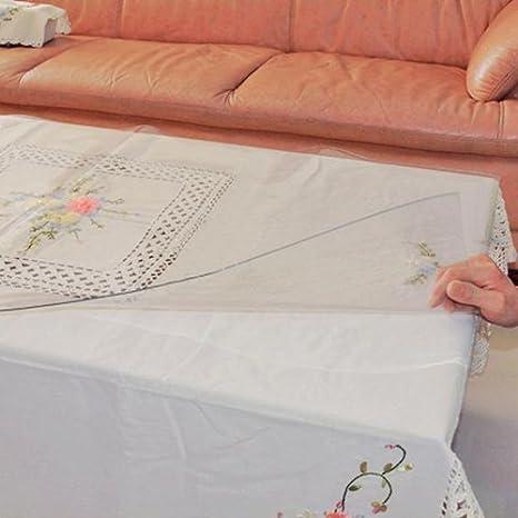 Max Home@ Transparente impermeable no-limpia cristalino mantel de cristal
