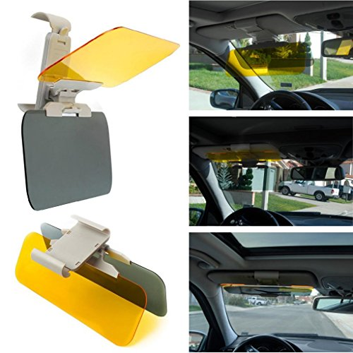 Happy Hours Car Shockproof Eyesight-protecting High Definition Mirrors Transparent 2 In 1 Anti-glare Glass TWO-WAY Day & Night Headlight Driving Sun Visor Clip-on (Headlight For Infinity G35 compare prices)