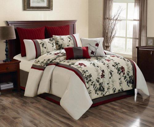 Red And Cream Bedding