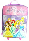 Disney Princess Girls Large Pilot Case - Rolling Luggage Travel Backpack