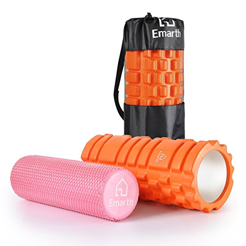 Buy Cheap Emarth GRID Foam Roller, 2 for 1 - Hollow Core & Solid Inner Core Massage Roller, Super Ef...