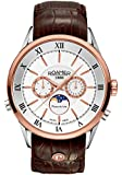 Roamer of Switzerland Superior Moonphase Men's Quartz Watch with White Dial Chronograph Display and Brown Leather Strap 508821 49 13 05
