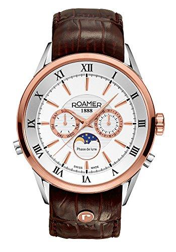 Roamer of Switzerland - 508821 49 13 05 - Montre Homme - Quartz - Chronographe - Bracelet Cuir Marron