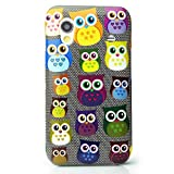 CaseiLike®, S06C3300-Gray, Multi Owl Graphic, Snap-on hard case back cover for Samsung Galaxy Ace S5830 GT-S5830 S5830T S5830i with Screen Protector