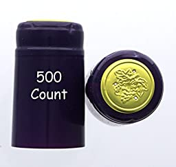 Purple PVC Shrink Capsules-500 Count