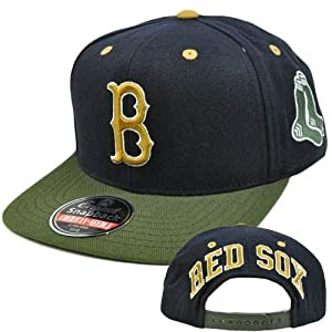 MLB American Needle Blockhead Earthtone Cap Hat Wool Snapback Boston Red Sox by American Needle