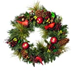 "24"" Cardinal Wonderland Pre-Decorated Artificial Christmas Wreath - Unlit"