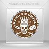Decals Decal King Of The Grill Bbq Sign Tablet Laptop Weatherproof Sports car (10 X 10 In)