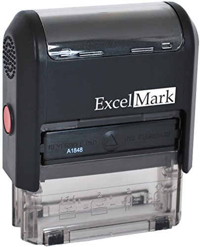 Self Inking Rubber Stamp with up To 4 Lines of Custom Text (42A1848) (Customized Return Address Stamp compare prices)