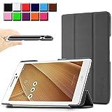 Infiland Asus ZenPad 7.0 Z370C 7インチ タブレット ケース 三つ折 カバー 薄型 軽量型 スマートケース (Asus ZenPad 7.0 Z370C, ブラック)
