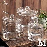 ガラス容器 蓋付ポット クリアー(M) コケ テラリウム ガラス インテリア 瓶