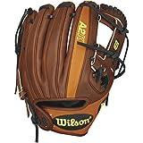Wilson A2K DP Infield Baseball Glove, Walnut/Orange Tan/Black Lace, Right Hand Throw, 11.5-Inch, 11.5 Inches/Walnut...