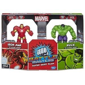 Marvel Battle Masters Super Hero Slam Iron Man vs. Hulk 2-Pack