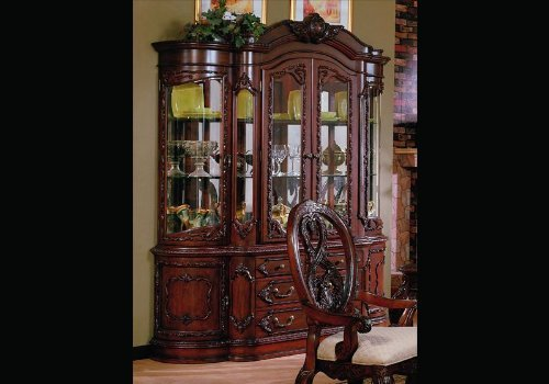 home furnishings master dining room china cabinet hutch buffet lighted