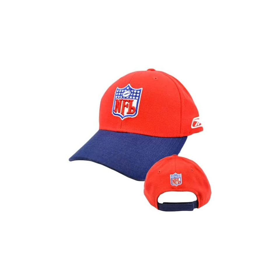 NFL National Football League Red Navy Blue Constructed Velcro Hat Cap Reebok