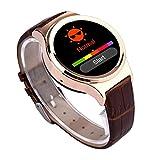 (ヨルコ)Yoluke  心拍計測 スマート腕時計  着信、メールできる (ゴールド)