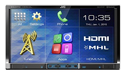JVC KW-V51BTE - Ricevitore DVD, CD e USB doppio DIN con HDMI e MHL link, colore: nero