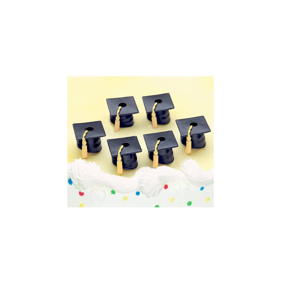 Party Cake Candleholders (set of 6)   Graduation Caps