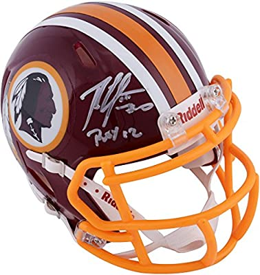 Robert Griffin III Washington Redskins Autographed Riddell Mini Helmet with ROY 2012 Inscription - Fanatics Authentic Certified