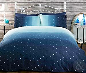 Night sky bedding cotton rich quilt cover luxury printed for Style my bedroom