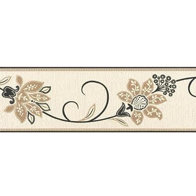 Fine Decor Anastasia Wallpaper Border Black Beige Cream from Fine Decor