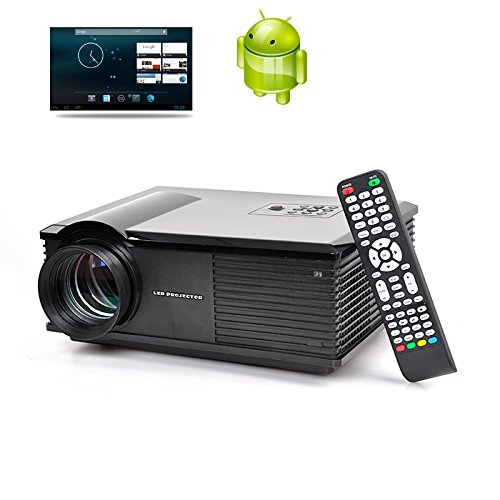 Dual Core Led Projector - 3200 Lumens, 1.4Ghz Cpu, Android 4.2 Os, 1G Ram, Wi-Fi Support