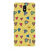 Noise Yellow Hearts Printed Cover For Huawei Y625