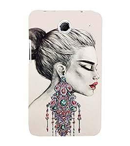 Amazing Girls Ear Rings 3D Hard Polycarbonate Designer Back Case Cover for Lenovo K880
