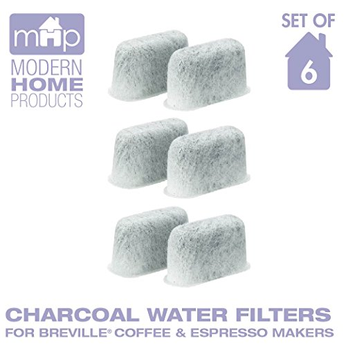 Charcoal Water Coffee & Espresso Filter Cartridges, Replaces Breville BWF100 Charcoal Water ...