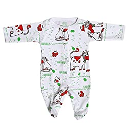 BACHHA ESSENTIAL Baby Full Romper(1001A_3months_Red_3-6 months)