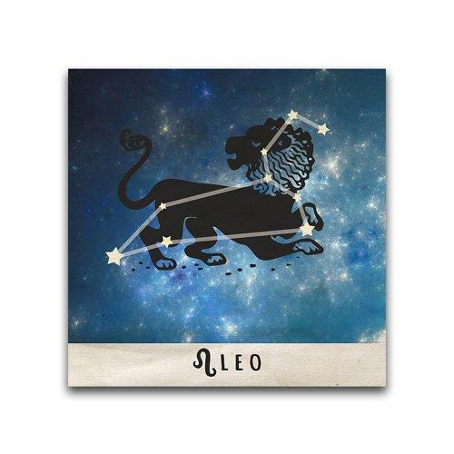 16x16-Leo-Zodiac-Constellation-Printed-Metal