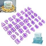 OUNONA 40 Stück Buchstaben Ausstecher Ausstechformen...
