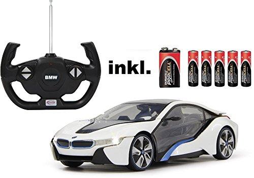 RC-BMW-I8-Mastab-114-LED-Licht-ferngesteuert-inkl-allen-Batterien-RTR-LIZENZ-NACHBAU