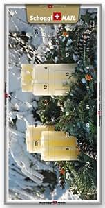 Weihnachtskarte, Grusskarte & Schweizer Premium Schokolade - Adventskalender Kerzen