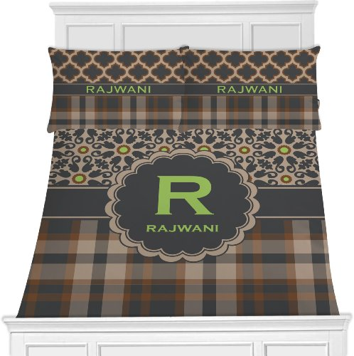 Moroccan Mosaic & Plaid Bedding Set (Personalized) - Toddler front-1007521