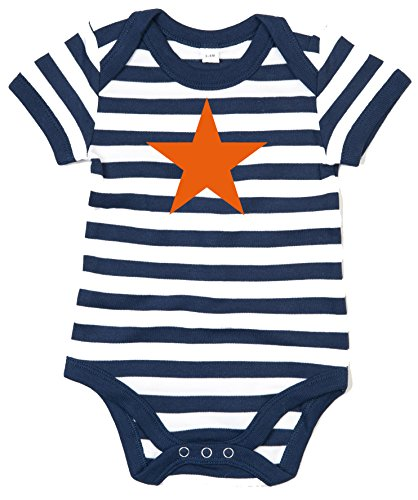 ORANGE sTAR baby body bleu rayé/blanc - Bleu - 2 mois