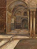 The high quality polyster Canvas of oil painting 'Alhambra in Granada by Emile Vloors,1901 ' ,size: 20x27 inch / 51x68 cm ,this Imitations Art DecorativeCanvas Prints is fit for Foyer decoration and Home gallery art and Gifts