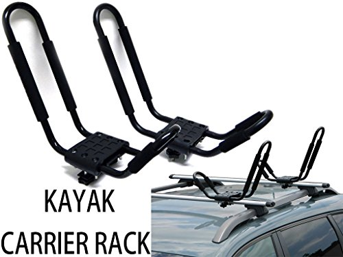 9sparts-J-Bar-Kayak-Canoe-Inflatable-Boat-Wakeboard-Waveboard-Paddleboard-Snowboard-Ski-Roof-Rack-Carrier-Car-SUV-Truck-Jeep-Roof-Top-Mount-With-Straps