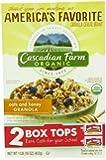 Cascadian Farm Granola, Oats and Honey, 16.0 Ounce (Pack of 6)