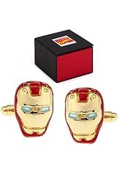 MARVEL Avengers Iron Man Helmet Color Cufflinks + Marvel Gift Box