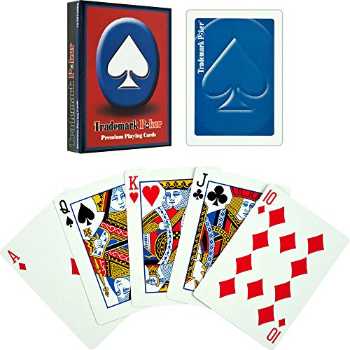Trademark Poker Premium Playing Cards (Set of 6), Blue