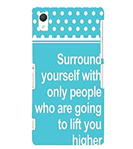 Printvisa Uplifting Thought And Quote Back Case Cover for Sony Xperia Z2::Sony Xperia Z2 L50W D6502 D6503
