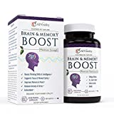 Brain Enhancer Health Supplements - Vitamins for Improving Memory and Focus Boost - Clarity and Brain Power - Help Concentration - Ginkgo Biloba - St John's Wort - Bacopa - 100% Moneyback Guarantee