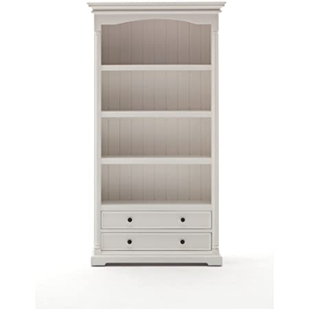 Nova Solo CA607 Bookcase, Mahogany, White
