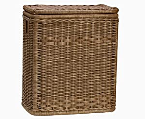 The basket lady narrow rectangular hamper laundry hampers - Narrow laundry hamper ...
