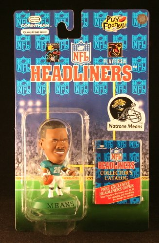 NATRONE MEANS / JACKSONVILLE JAGUARS * 3 INCH * 1996 NFL Headliners Football Collector Figure - 1
