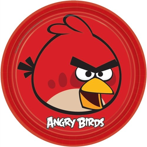 Imagen de Partido Angry Birds Suministros placas Almuerzo paquete de 8